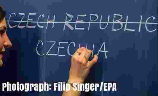 Free 2-page printable mini-lesson on why the Czech Republic is to be renamed Czechia.