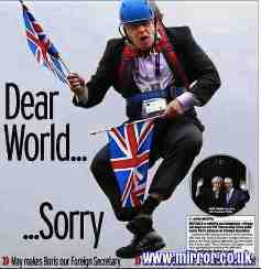 Free 2-page printable mini-lesson on Boris Johnson – UK's controversial new foreign secretary.