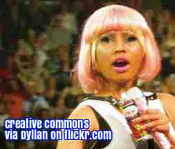 Free 2-page printable mini-lesson on Nicki Minaj paying the college fees for some of her fans.