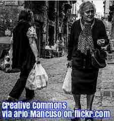 Free 2-page printable mini-lesson on how carrying the shopping makes over-65s stronger.