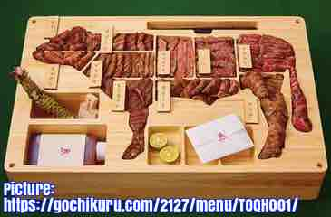 Free 2-page printable mini-lesson on a $3,000 bento lunch box containing Japanese wagyu beef.