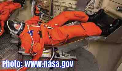 Free 2-page printable mini-lesson on new spacesuits with built-in toilets that astronauts can stay in for six days.