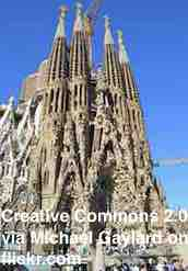 Free 2-page printable mini-lesson on Sagrada Familia finally getting a building permit, 136 years late.