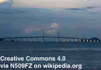 Free 2-page printable mini-lesson on the world's longest sea bridge that links Hong Kong, Macau and China.