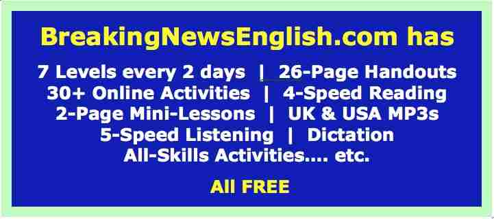 Breaking News English Lessons Easy English World News